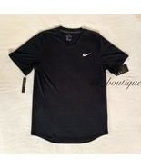 NWT Nike BV0766-010 Men's Dri-Fit Challenger Top Tee Shirt Slim Fit Blac... - $36.95