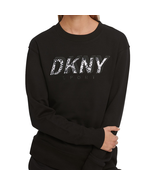 DKNY Sport Printed Logo Long Sleeve Top Sweatshirt, Black, S - $34.65