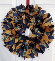 "NOTRE DAME  Fighting Irish 16"" Ribbon Wreath Custom Made For Each  Fan - $40.00"