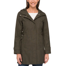 Neu Kirkland Signatur Ladies' Olivgrün Trenchcoat Regenmantel Jacke mit Kapuze M