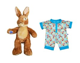 "New Build a Bear Workshop Peter Rabbit Stuffed 15"" Plush Toy with Sleeper - $98.95"