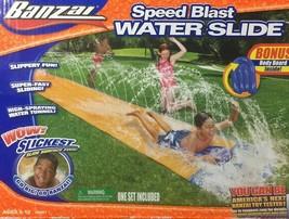 Banzai Speed Blast 16' Water Slide With Bonus Body Board-New - $19.95