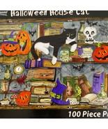 Vermont Christmas Company Halloween House Cat 100 Pcs Puzzle Complete - $14.84