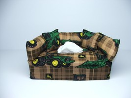 John Deere Designer fabric tissue box cover. - $20.00