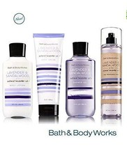 Bath & Body Works LAVENDER & SANDALWOOD Deluxe Gift Set Lotion ~ Cream ~ Fragran