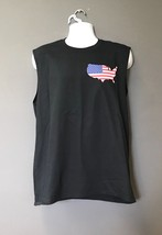 CONUS OUTLINE American Pride US Flag Country Shaped Black Muscle MORALE ... - $21.28+