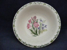 "Thomson Floral Garden 7"" Soup Bowl Pink & Blue Flowers - $9.99"