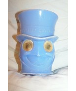 Vintage Plastic 1950s Jiminy Cricket Blue Google Eyed Cup 4 inches tall  - $9.50
