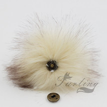 5inch Large Faux Raccoon Fur Pom Pom Ball with Press Button for Knitting... - $3.20