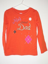 Gymboree Mad about Dad Top Shirt Fathers Day Girls size 4 Fall Homecoming Line - $12.64