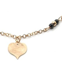 Silver Bracelet 925 Laminated in Rose Gold le Favole with Heart AG-905-BR-54 image 2