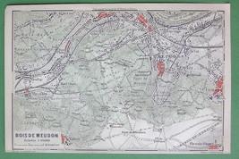 1907 MAP ORIGINAL Baedeker - PARIS Bois de Meudon France - $5.07