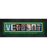 University of Vermont Officially Licensed Framed Campus Letter Art - $39.95