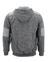 Men's Two Tone Warm Soft Sherpa Lined Moto Quilted Zipper Fleece Hoodie Jacket image 12