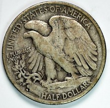 1929S Walking Liberty Half Dollar 90% Silver Coin Lot# A 224 image 2