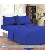 KING HOME Smooth 1800 Soft Bed Sheet Set with One Flat Sheet, One Fitted... - $25.94