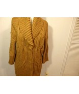 Wome M L 12 14 16 Cardigan Sweater Coat Jacket Knit Long Shawl Button Co... - $33.91