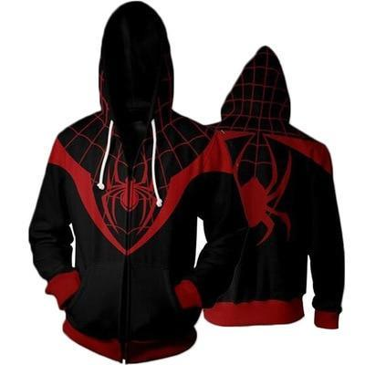 Custom Miles Morales Iron Spider Man Amazing Spiderman Costume Adult Homecoming