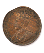 1917 1c Canada Large One Cent Penny KM#21 Bronze Clipped - $19.79