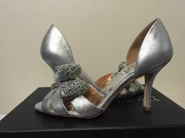 Badgley Mischka Vita Silver Antique Metallic Women's Heels Sandals US 6 ... - $58.88