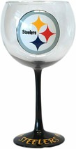 Pittsburgh Steelers NFL Hand Painted Balloon Cocktail Red Wine Glass 20 oz USA - $31.68