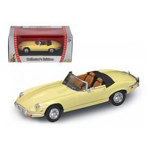 DDS-1721 1971 Jaguar E Type Convertible Yellow 1/43 Diecast Model Car by Road... - $21.86