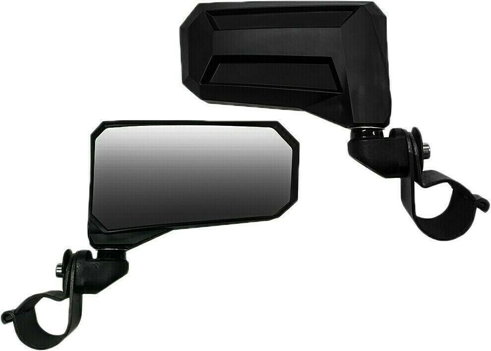 "Spike Wide View Side Folding Mirror Set (2) 1.825""-2"" Roll Bar Mount UTV SXS"