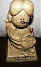 Vintage - 1970 W & R Berries WORLD'S GREATEST GRANDMA Figurine!! NICE - $12.52