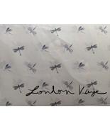 London Kaye Lavender/Gray Dragonflies on White Microfiber Sheet Set King - $62.00