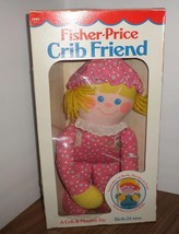 """Vintage 1984 Fisher Price 12"""" Plush CRIB FRIENDS GIRL Pink Doll Rattle I... - $16.00"""