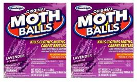 2 Pk MOTH BALLS Lavender Scented Kills Clothes Moths Carpet Beetles No C... - $9.99
