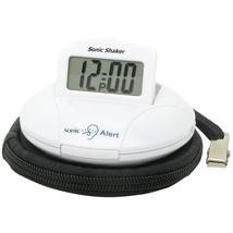 Sonic Alert(R) 650518100060 Sonic Shaker(TM) Travel Alarm Clock (White) - €57,71 EUR