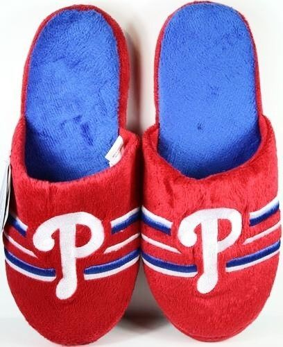 Philadelphia Phillies Slippers Slides House Shoes MLB Baseball Big Stripe