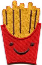 French Fries chips potatoes retro fun embroidered applique iron-on patch... - $2.95