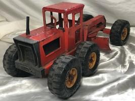 1 Vintage Pressed Steel USA Tonka Model Toy Diecast State Hi Way Road Grader - $316.27
