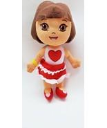 "Dora the Explorer 12"" Plush Doll  Heart Ruffled Dress & Heart Shoes Soft... - $6.30"