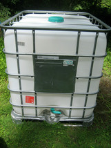 275 Gal IBC Tote Tank Metal Cage pallet attached.Food grade H2o tank NO ... - $160.00