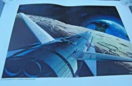 NORTHROP CORPORATION CONCEPTUAL ART PRINT DRAWING SPACE SHUTTLE GOOD  20... - $6.33