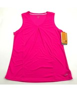 NEW Champion DuoDRY Max Tank Top Womens Size M Medium V-Neck Pink Sleeve... - $14.27