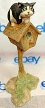 "Lowell Davis ""Wishful Thinking"" Figurine  1987 Schmid 225285 Cat Birdhouse - $76.71"
