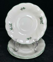 """Set of 3 HAPPY HOLIDAYS Nikko Christmas Berries & Holly Saucers 6"""" - $9.40"""