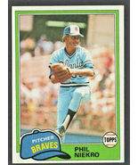 Atlanta Braves Phil Niekro 1981 Topps Baseball Card #387 nr mt - $0.65