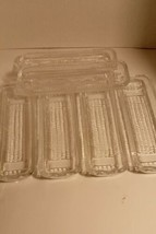 Corn On The Cob Pressed Clear Glass Dishes/Holders-Lot Of 6 Vintage EUC - $47.43