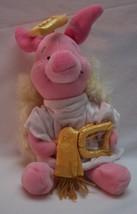 "Walt Disney 2000 Winnie the Pooh PIGLET AS ANGEL 9"" Bean Bag STUFFED ANI... - $14.85"