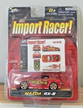 2004 Jada Toys Import Racer! Mazda RX-8 MOMO Red 1:64 032 SUPER RARE SEALED - $71.25