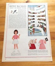 Betsy McCall Paper Doll, Uncut with Clothes, Betsy McCall's Trip to New ... - $5.94