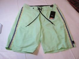 Mens Quiksilver Boardshorts Board Shorts Swim Short 34 Vibes GDW0 Lt Green NWT - $32.66