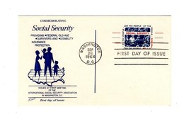 POSTCARD-FDC  COMMEMORATING SOCIAL SECURITY- 1964 FLEETWOOD CACHET  BK12 - $1.96