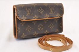 LOUIS VUITTON Monogram Pochette Florentine Bum Bag M51855 LV Auth sa1681 - $480.00