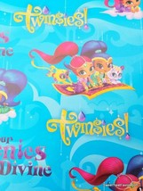 Shimmer And Shine Wrapping Paper Gift Book Cover Party Wrap Princess Genies Girl - $16.78